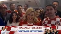 Predsjednica poručila iz zrakoplova: Rusijo, dolazimo - večeras navijajte za Hrvatsku!