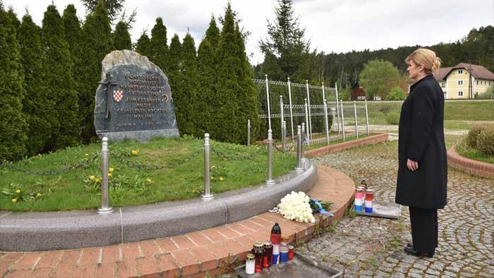 Predsjednica Republike posjetila Macelj, Bleiburg i Hudu jamu