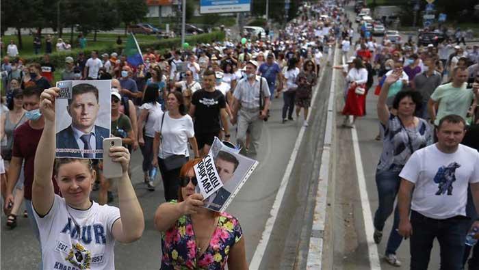 U Rusiji novi prosvjed protiv Kremlja zbog pritvorenog guvernera