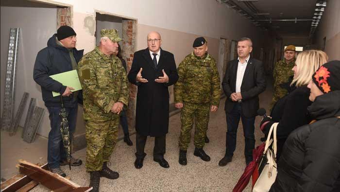 Obilazak radova u vojarni u Varaždinu