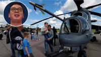 Vučić ironično: Vas ću Hrvate prve provozati helikopterima Mi-35