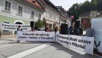 Prosvjedni skup antifašista na Bleiburgu
