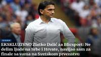 Dalić za srpski Blic: Lijepa li si, nije negativna i ružna i nema političku konotaciju | Domoljubni portal CM | Sport