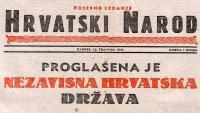 10. travnja 1941. - Proglašena Nezavisna Država Hrvatska (NDH)   Domoljubni portal CM   Hrvatska kroz povijest